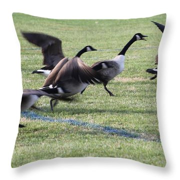 Throw Pillow featuring the photograph Running Start by Robert Banach