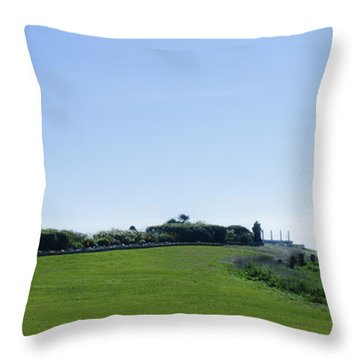 Running The Bell Throw Pillow