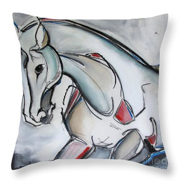 Throw Pillow featuring the painting Running Wild by Nicole Gaitan