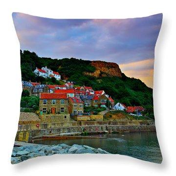 Runswick Bay England Throw Pillow