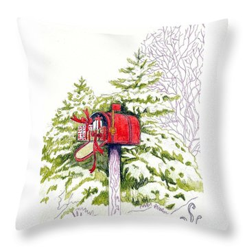Country Living Christmas Delivery Throw Pillow