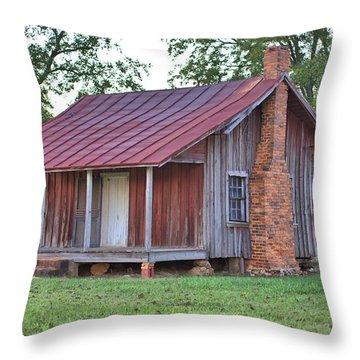 Throw Pillow featuring the photograph Rural Georgia Cabin by Gordon Elwell