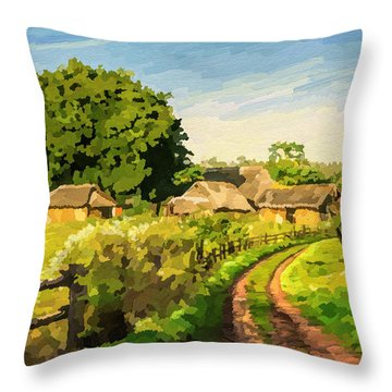 Rural Home Throw Pillow by Anthony Mwangi