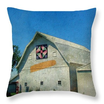 Rural Iowa Barn Throw Pillow by Cassie Peters