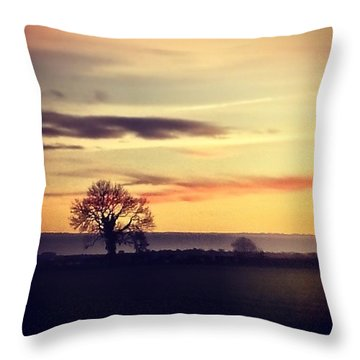 #rural #sky #skylovers #clouds Throw Pillow