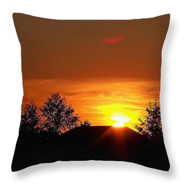 Throw Pillow featuring the photograph Rural Sunset by Gena Weiser