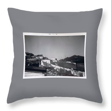 Rural Washday 1969 - Nostalgic Memories Throw Pillow by Barbara Griffin