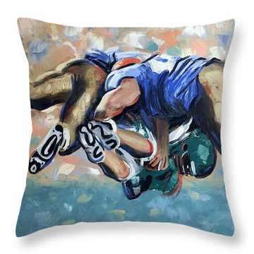 Rush Throw Pillow by Anthony Falbo