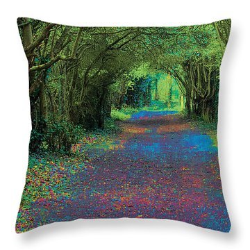 Rush Avenue Throw Pillow