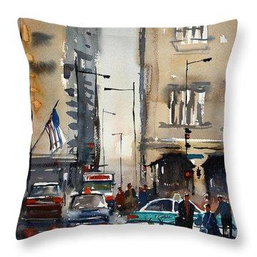 Rush Hour - Chicago Throw Pillow by Ryan Radke
