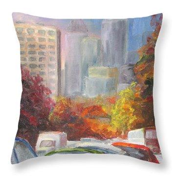 Rush Hour Throw Pillow by Susan Richardson