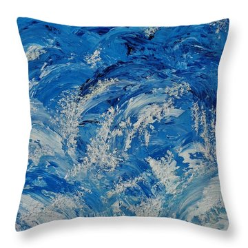 Throw Pillow featuring the painting Rush by Katherine Young-Beck