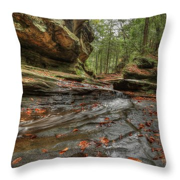 Rush To Old Man's Cave Throw Pillow