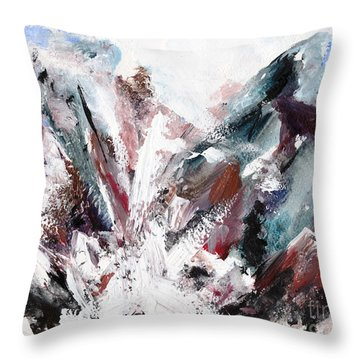 Rushing Down The Cliff Throw Pillow by Lidija Ivanek - SiLa