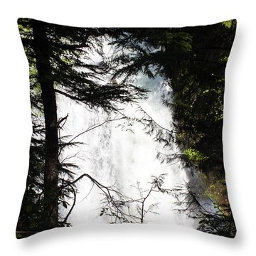 Rushing Through The Trees Throw Pillow