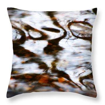 Rushing Water Throw Pillow by Deborah  Crew-Johnson