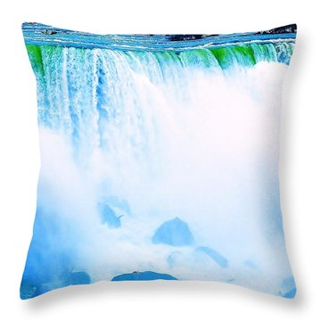 Throw Pillow featuring the photograph Rushing Waters by Al Fritz