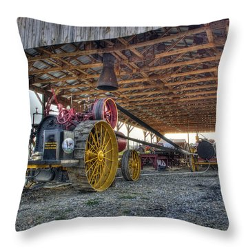Russell At The Saw Mill Throw Pillow