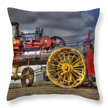 Russell Steam Throw Pillow by Shelly Gunderson