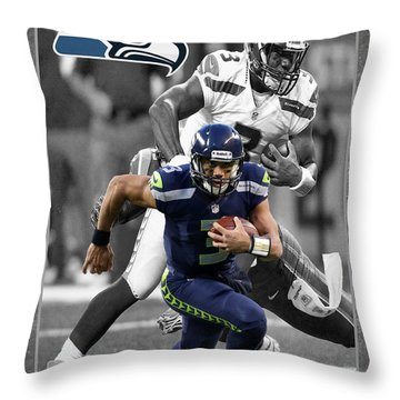 Russell Wilson Seahawks Throw Pillow