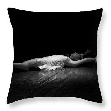 Russian Ballerina As A Melting Snowflake. Throw Pillow