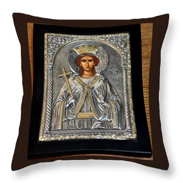 Russian Byzantin Icon Throw Pillow