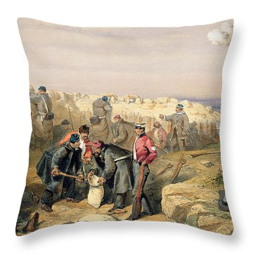 Russian Rifle Pit , Plate From The Seat Throw Pillow