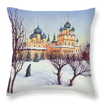 Russian Winter Throw Pillow by Tilly Willis