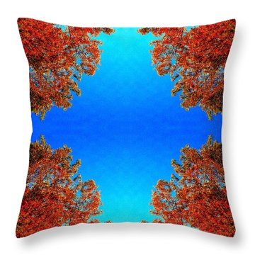 Throw Pillow featuring the photograph Rust And Sky 1 - Abstract Art Photo by Marianne Dow