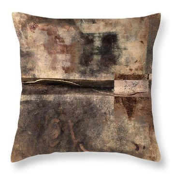 Rust And Walls No. 2 Throw Pillow