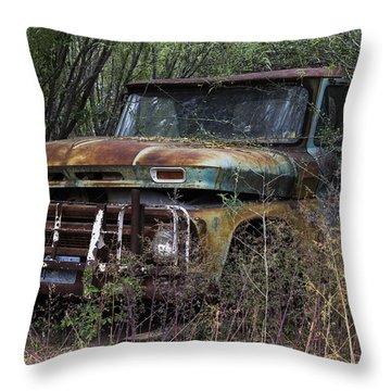 Rust Bucket Throw Pillow by Amber Kresge