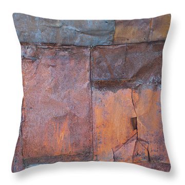 Rust Squared Throw Pillow