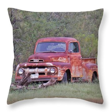 Rusted Beauty Throw Pillow