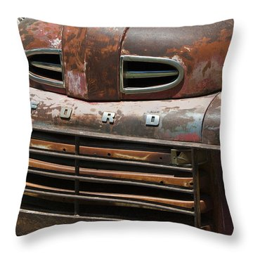 Rusted Ford In Hackberry Throw Pillow