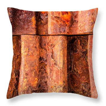 Rusted Gears  Throw Pillow