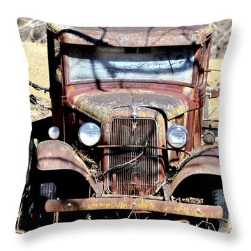 Rusted Love Throw Pillow