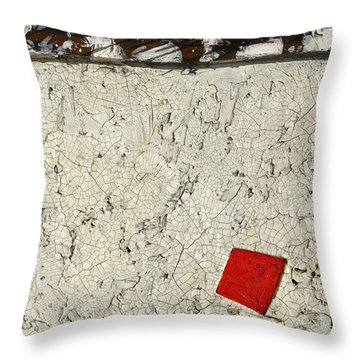 Rusted Nails     Red Dot Throw Pillow