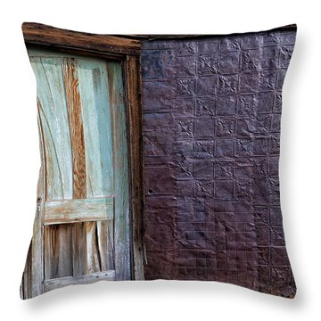 Rusted Tin Exterior In Bodie Throw Pillow