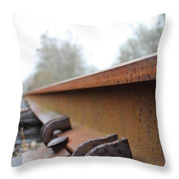 Rusted Track Throw Pillow