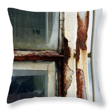 Rusted Window Throw Pillow