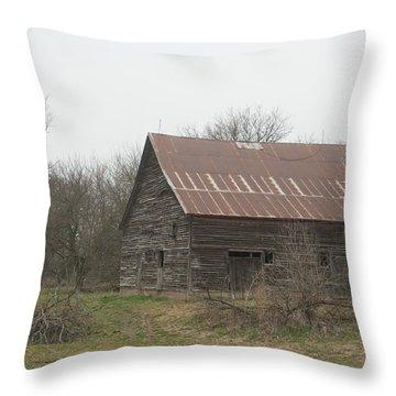 Rustic Barn Forgotten Throw Pillow
