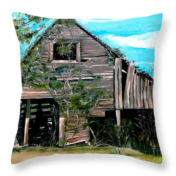 Rustic Barn - Mooresburg - Tennessee Throw Pillow