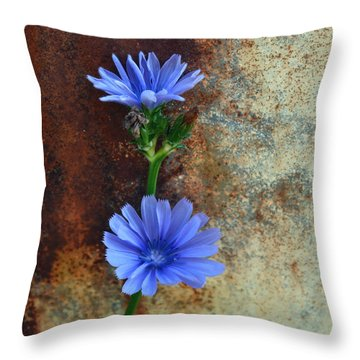 Rustic Bloom Throw Pillow