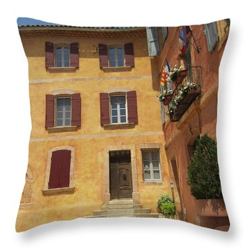 Throw Pillow featuring the photograph Rustic Charm by Pema Hou