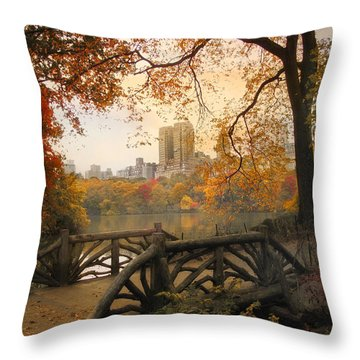 Throw Pillow featuring the photograph Rustic City View by Jessica Jenney
