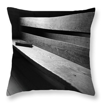 Rustic Faith Throw Pillow