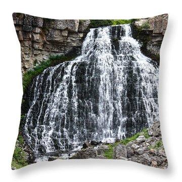 Rustic Falls Throw Pillow
