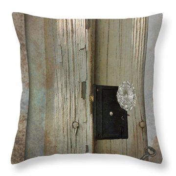 Rustic Glass Door Knob Throw Pillow