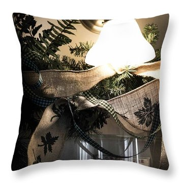 Rustic Holiday Throw Pillow by Patricia Babbitt