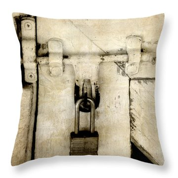 Rustic Lock Out Throw Pillow by Davina Washington